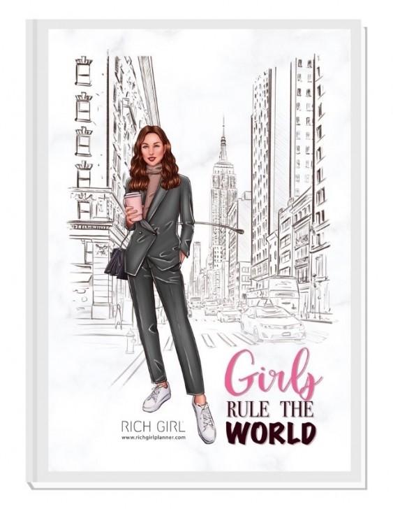 GIRLS RULE THE WORLD 1/ Brunette Avatar - финансов RICH GIRL планер