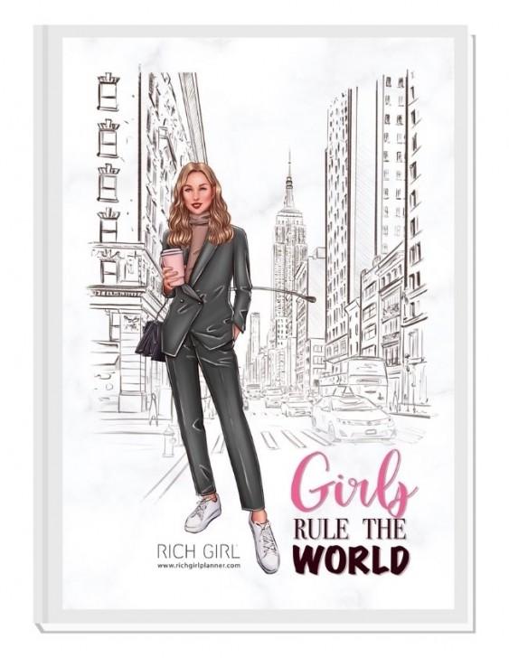 GIRLS RULE THE WORLD 1/ Blond Avatar - финансов RICH GIRL планер