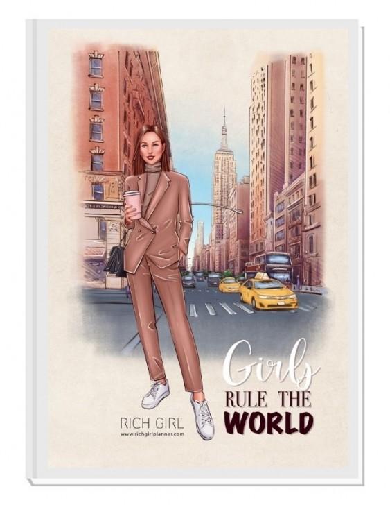 GIRLS RULE THE WORLD 2/ Brunette Avatar - финансов RICH GIRL планер