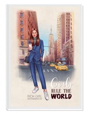 GIRLS RULE THE WORLD 3/ Brunette Avatar - финансов RICH GIRL планер