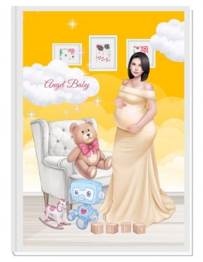 ПЕРСОНАЛИЗИРАН ДНЕВНИК НА БЪДЕЩАТА МАМА - ANGEL BABY3: LOVE (yellow/black)