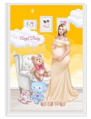 ПЕРСОНАЛИЗИРАН ДНЕВНИК НА БЪДЕЩАТА МАМА - ANGEL BABY3: LOVE (yellow/blond)