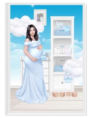 ПЕРСОНАЛИЗИРАН ДНЕВНИК НА БЪДЕЩАТА МАМА - ANGEL BABY4: CARE (blue/black)