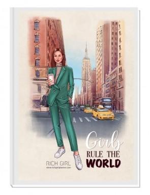 GIRLS RULE THE WORLD 4/ Brunette Avatar - финансов RICH GIRL планер