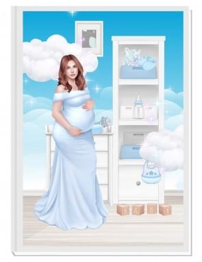 ПЕРСОНАЛИЗИРАН ДНЕВНИК НА БЪДЕЩАТА МАМА - ANGEL BABY4: CARE (blue/red)