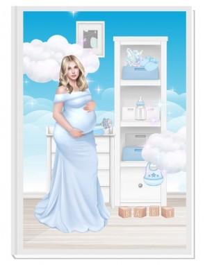 ПЕРСОНАЛИЗИРАН ДНЕВНИК НА БЪДЕЩАТА МАМА - ANGEL BABY4: CARE (blue/blond)