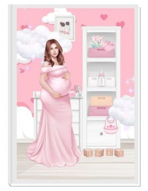 ПЕРСОНАЛИЗИРАН ДНЕВНИК НА БЪДЕЩАТА МАМА - ANGEL BABY5: DREAM (pink/red)