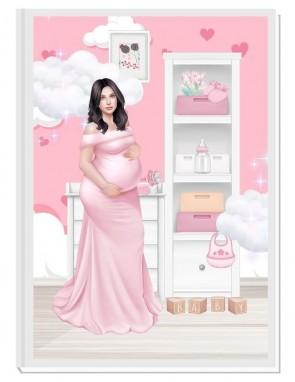 ПЕРСОНАЛИЗИРАН ДНЕВНИК НА БЪДЕЩАТА МАМА - ANGEL BABY5: DREAM (pink/black)
