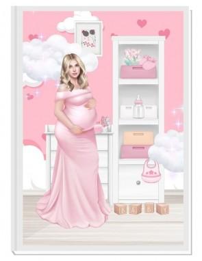 ПЕРСОНАЛИЗИРАН ДНЕВНИК НА БЪДЕЩАТА МАМА - ANGEL BABY5: DREAM (pink/blond)