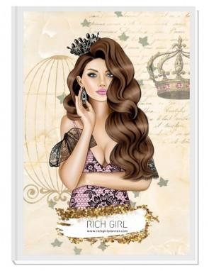 MY QUEEN (brown) - дневен RICH GIRL планер