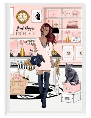 GOAL DIGGER (ginger) - дизайнерски RICH GIRL планер, датиран за 2021 г.