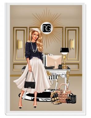 SLAY THE DAY (blond) - дизайнерски RICH GIRL планер, датиран за 2021 г.