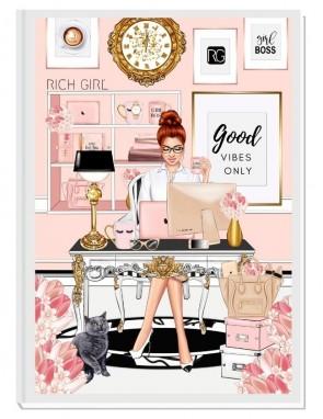 GOOD VIBES ONLY (ginger) - дизайнерски RICH GIRL планер, датиран за 2021 г.