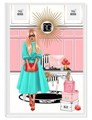 BOSS VIBES (blond) - дизайнерски RICH GIRL планер, датиран за 2021 г.