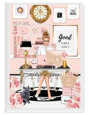 GOOD VIBES ONLY  (light blond) - дизайнерски RICH GIRL планер, датиран за 2021 г.
