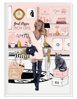 GOAL DIGGER (blond) - дизайнерски RICH GIRL планер, датиран за 2021 г.