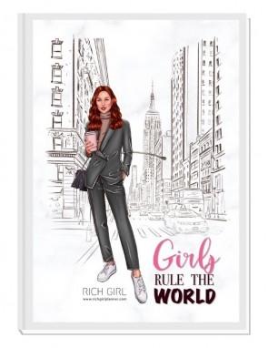 GIRLS RULE THE WORLD 1/ Ginger Avatar - финансов RICH GIRL планер