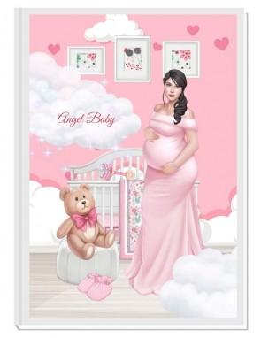 ПЕРСОНАЛИЗИРАН ДНЕВНИК НА БЪДЕЩАТА МАМА - ANGEL BABY2: EXCITEMENT (pink/black)
