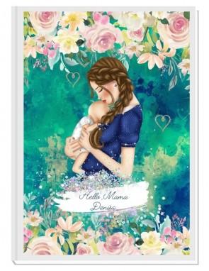 HELLO MAMA green - авторски Дневник на мама и бебето