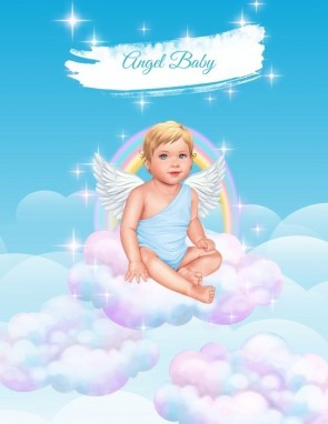 ПОСТЕР ANGEL BABY BOY (blue/blond)
