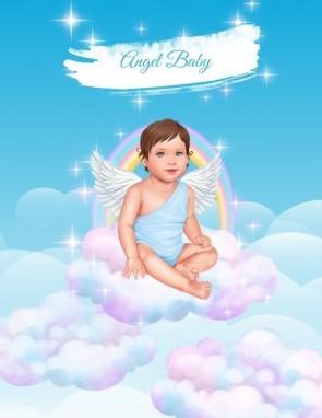 ПОСТЕР ANGEL BABY BOY (blue/black)