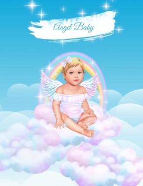 ПОСТЕР ANGEL BABY GIRL (pink/blond)