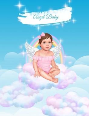 ПОСТЕР ANGEL BABY GIRL (pink/black)