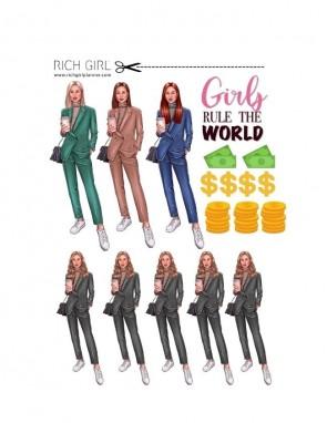 ЕЛЕМЕНТИ ЗА ИЗРЯЗВАНЕ И ДЕКОРАЦИЯ GIRLS RULE THE WORLD