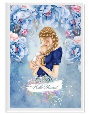 HELLO MAMA blue/blond- авторски Дневник на мама и бебето