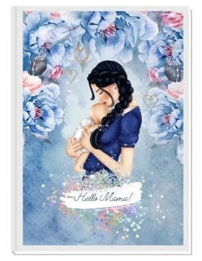 HELLO MAMA blue - дизайнерски Дневник на мама и бебето