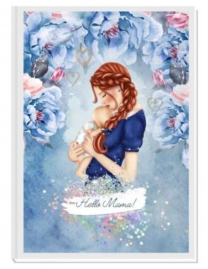 HELLO MAMA blue/red- авторски Дневник на мама и бебето