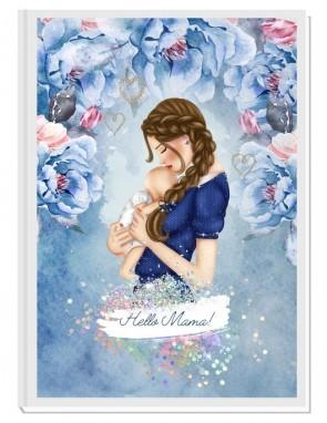 HELLO MAMA blue/brown- авторски Дневник на мама и бебето