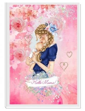HELLO MAMA pink/blond - авторски Дневник на мама и бебето